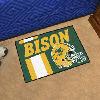 "19"" x 30"" North Dakota State University Uniform Green Rectangle Starter Mat"