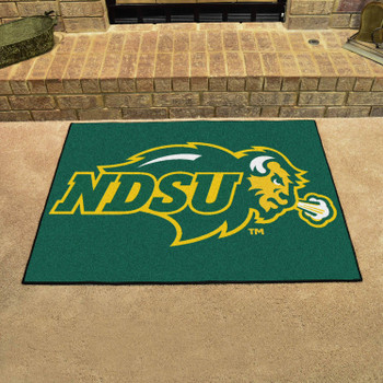 "33.75"" x 42.5"" North Dakota State University All Star Green Rectangle Mat"