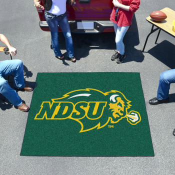 "59.5"" x 71"" North Dakota State University Green Tailgater Mat"