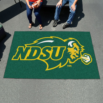 "59.5"" x 94.5"" North Dakota State University Green Rectangle Ulti Mat"