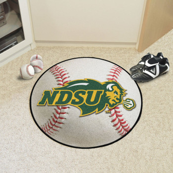 "27"" North Dakota State University Baseball Style Round Mat"