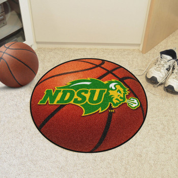 "27"" North Dakota State University Basketball Style Round Mat"