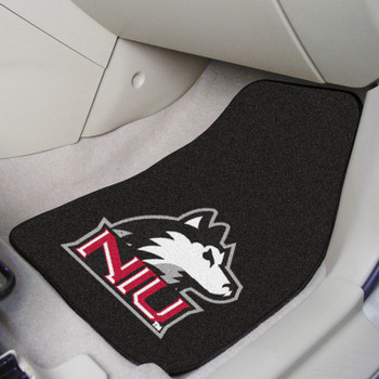 Northern Illinois University Black Carpet Car Mat, Set of 2