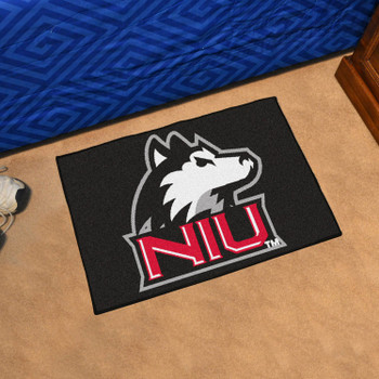 "19"" x 30"" Northern Illinois University Black Rectangle Starter Mat"