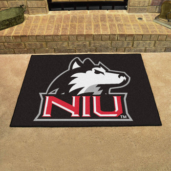 "33.75"" x 42.5"" Northern Illinois University All Star Black Rectangle Mat"