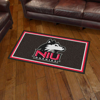 3' x 5' Northern Illinois University Black Rectangle Rug