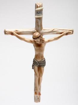 Jesus on a Cross Porcelain Wall Cross