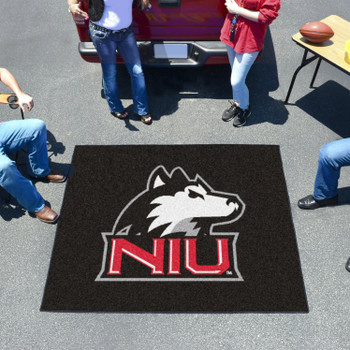 "59.5"" x 71"" Northern Illinois University Black Tailgater Mat"