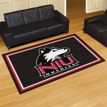5' x 8' Northern Illinois University Black Rectangle Rug