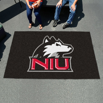"59.5"" x 94.5"" Northern Illinois University Black Rectangle Ulti Mat"