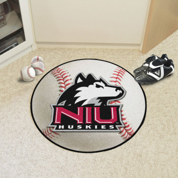 "27"" Northern Illinois University Baseball Style Round Mat"