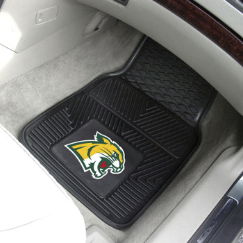 Northern Michigan University Heavy Duty Vinyl Front Black Car Mat, Set of 2