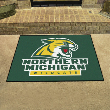 "33.75"" x 42.5"" Northern Michigan University All Star Green Rectangle Mat"