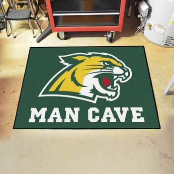 "33.75"" x 42.5"" Northern Michigan University Man Cave All-Star Green Rectangle Mat"