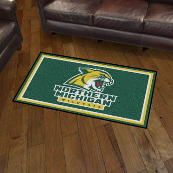 3' x 5' Northern Michigan University Green Rectangle Rug