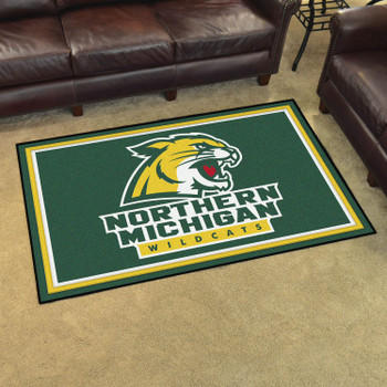 4' x 6' Northern Michigan University Green Rectangle Rug
