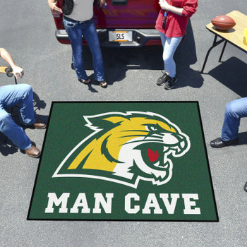 "59.5"" x 71"" Northern Michigan University Man Cave Tailgater Green Rectangle Mat"