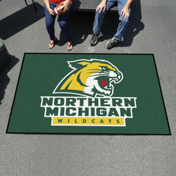 "59.5"" x 94.5"" Northern Michigan University Green Rectangle Ulti Mat"
