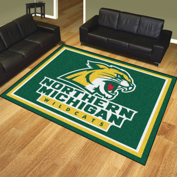 8' x 10' Northern Michigan University Green Rectangle Rug