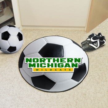"27"" Northern Michigan University Soccer Ball Round Mat"