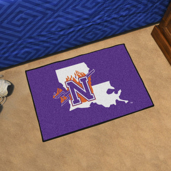 "19"" x 30"" Northwestern State Purple Rectangle Starter Mat"