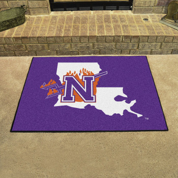"33.75"" x 42.5"" Northwestern All Star Purple Rectangle Mat"