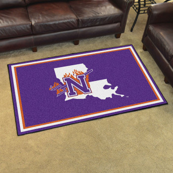 4' x 6' Northwestern State Purple Rectangle Rug