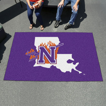 "59.5"" x 94.5"" Northwestern State Purple Rectangle Ulti Mat"