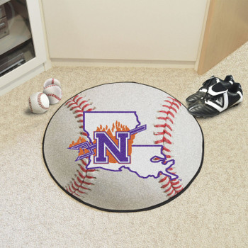 "27"" Northwestern Baseball Style Round Mat"