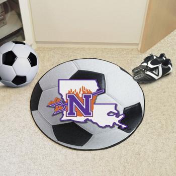 "27"" Northwestern State Soccer Ball Round Mat"