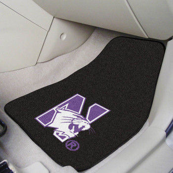 Northwestern University Black Carpet Car Mat, Set of 2