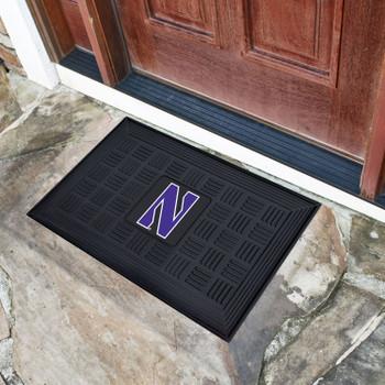 "19.5"" x 31.25"" Northwestern University Medallion Rectangle Door Mat"