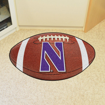 "20.5"" x 32.5"" Northwestern University Football Shape Mat"