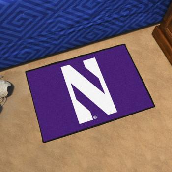 "19"" x 30"" Northwestern University Purple Rectangle Starter Mat"