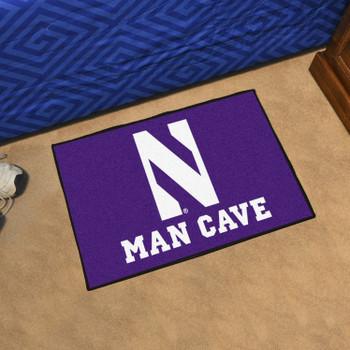 "19"" x 30"" Northwestern University Man Cave Starter Purple Rectangle Mat"