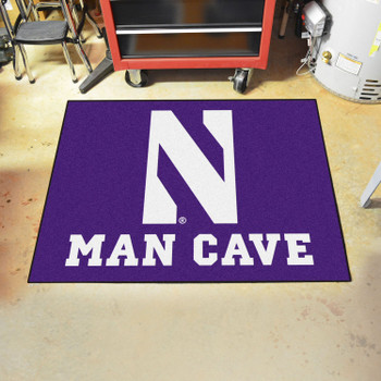 "33.75"" x 42.5"" Northwestern University Man Cave All-Star Purple Rectangle Mat"