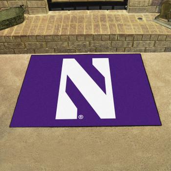 "33.75"" x 42.5"" Northwestern University All Star Purple Rectangle Mat"