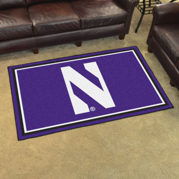 4' x 6' Northwestern University Purple Rectangle Rug