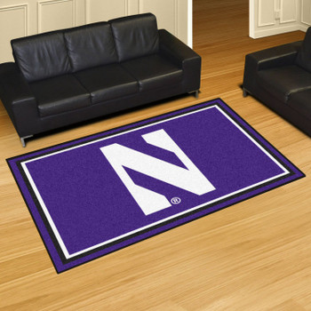 5' x 8' Northwestern University Purple Rectangle Rug