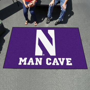 "59.5"" x 94.5"" Northwestern University Man Cave Purple Rectangle Ulti Mat"