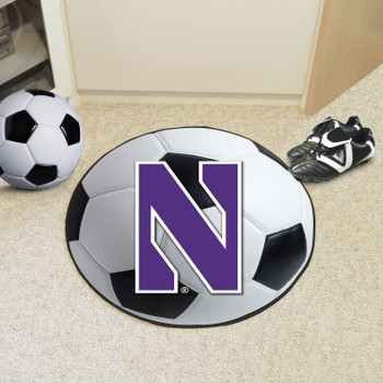 "27"" Northwestern University Soccer Ball Round Mat"