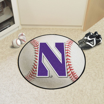 "27"" Northwestern University Baseball Style Round Mat"