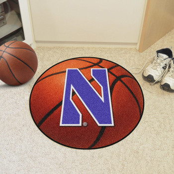 "27"" Northwestern University Basketball Style Round Mat"