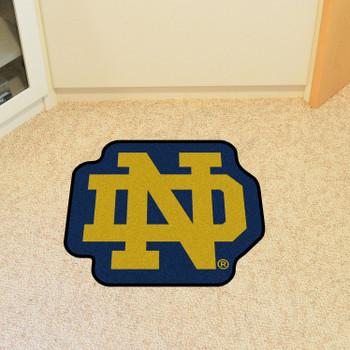 """Notre Dame Mascot Mat - """"ND"""" Logo"""