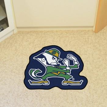 """Notre Dame Mascot Mat - """"Fighting Irish"""" Logo"""