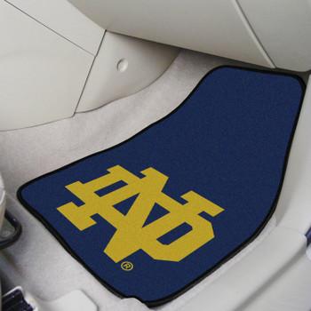 Notre Dame Carpet Car Mat, Set of 2