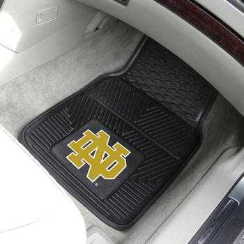 Notre Dame Heavy Duty Vinyl Front Car Mat, Set of 2