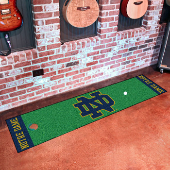 "18"" x 72"" Notre Dame Putting Green Runner Mat"
