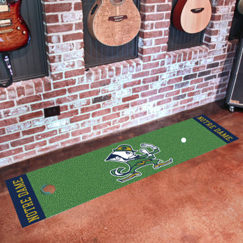 "18"" x 72"" Notre Dame Fighting Irish Logo Putting Green Runner Mat"