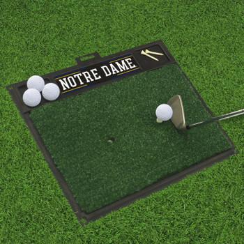 """20"""" x 17"""" Notre Dame Golf Hitting Mat"""